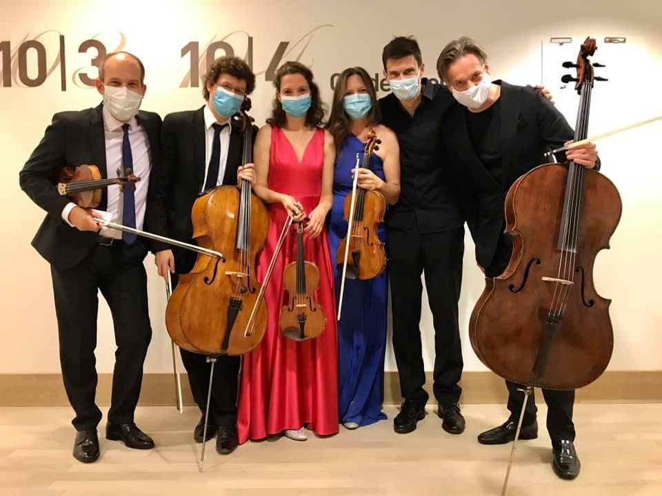 Amaryllis Quartett mit Jens-Peter Maintz und Volker Jacobsen in der Elbphilharmonie