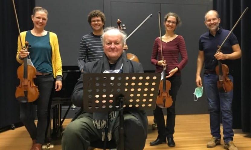 das Amaryllis Quartett arbeitet in Karlsruhe mit Wolfgang Rihm