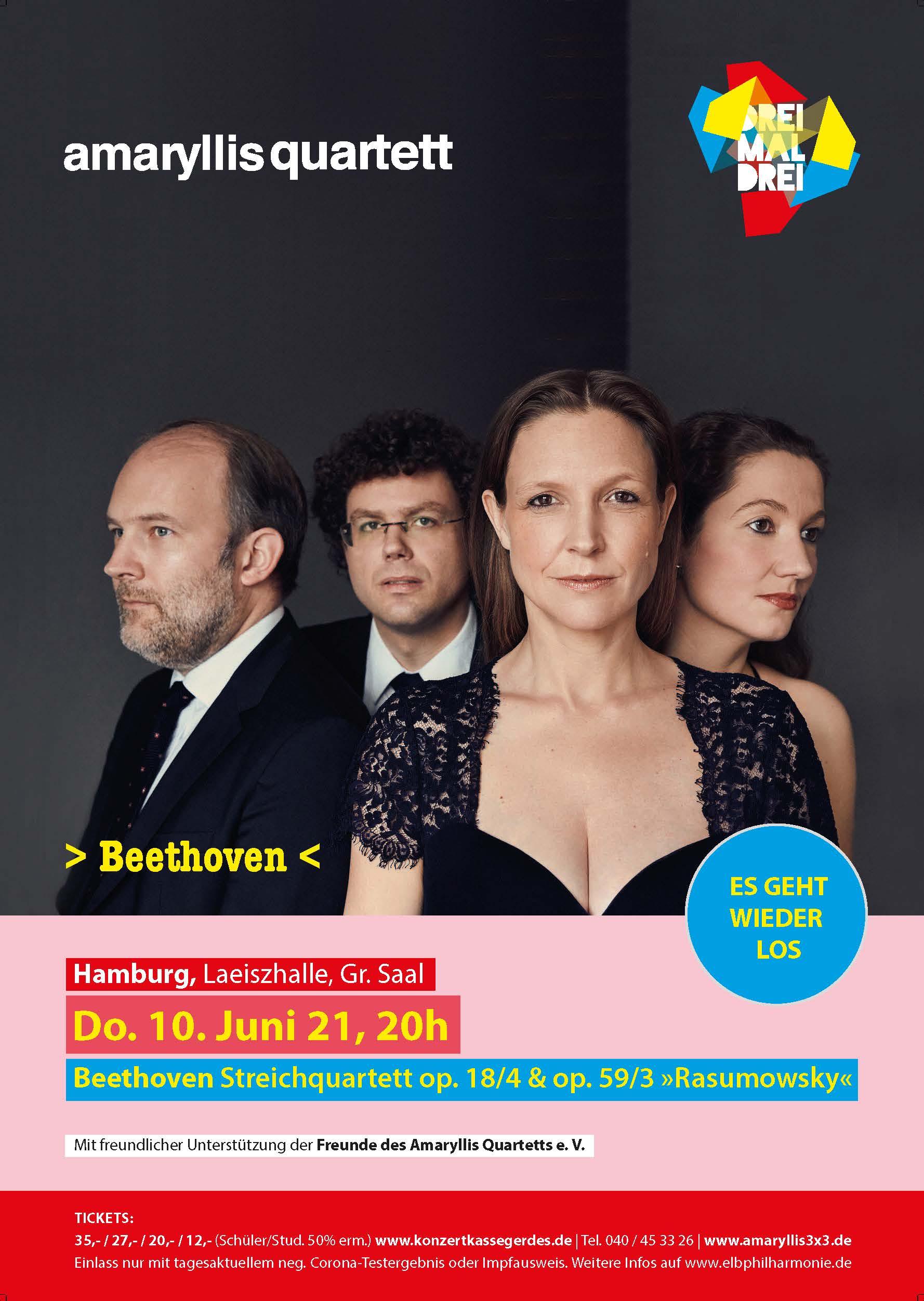Konzertreihe 3x3 Amaryllis Quartett